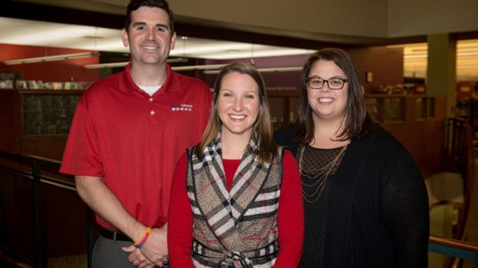 E Left to Right: CCPL YP Committee members: John Boss, Stacy Doane and Hadley Moore
