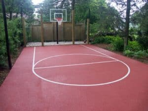 Rubarock basketball court surface