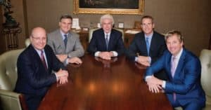 Members of David A.Noyes Board: Left to right: Mark Damer, Chief Executive Officer,  Chris Cooke, L.H. Bayley, Chairman of the Board, Brian Cooke, and Scott Wolfrum