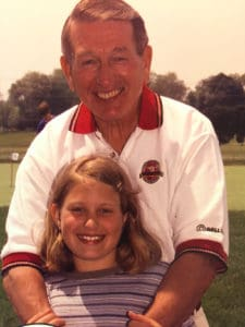 Colts Hall of Famer Johnny Unitas and his granddaughter, Jillian.