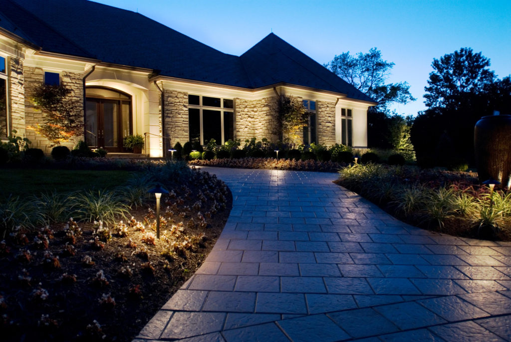 Outdoor  lighting in Zionsville residence