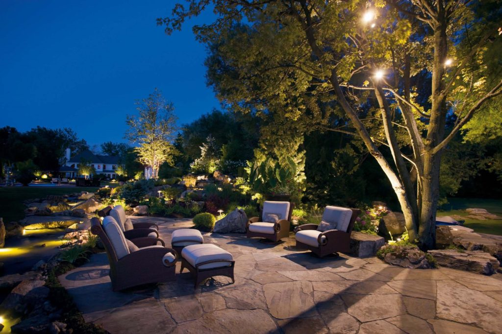 Landscape Illumination outdoor pool architectural lighting