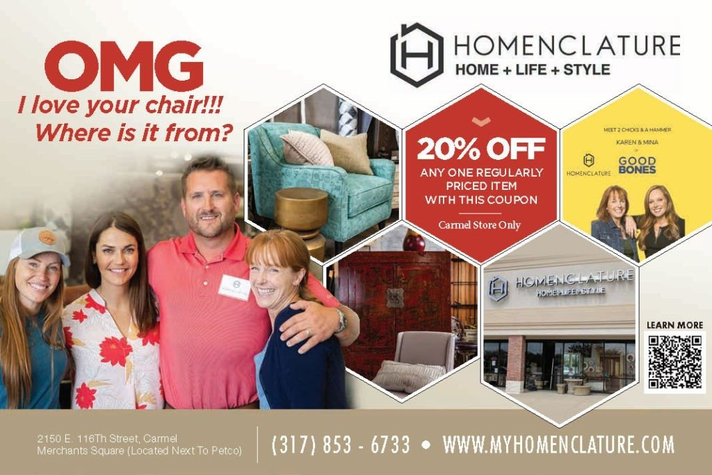 Coupon for Homeclature furniture store in Carmel