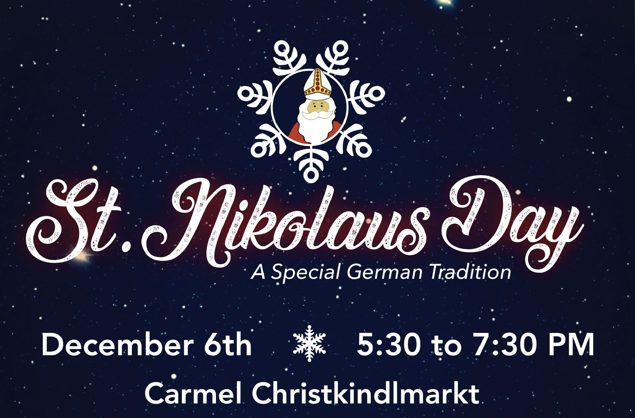 Celebrate St. Nikolaus Day at the Carmel Christkindlmarkt